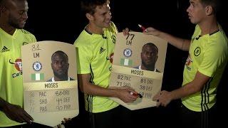 OSCAR, AZPILICUETA & MOSES REACT TO THEIR FIFA 17 STATS!