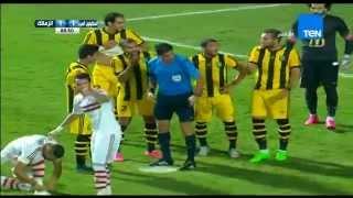 """احمد دويدار يحرز ضربة جزاء على طريقة """" Pirlo """" بلمسة سحرية ... المقاولون VS الزمالك 1 / 2"""