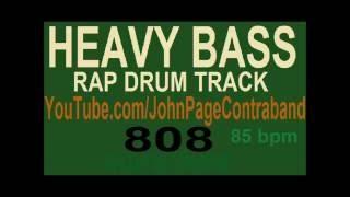 HEAVY BASS Rap Hip Hop Drum Beat 85 bpm Instrumental Freestyle Loud Deep 808