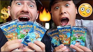LUCKIEST PULLS EVER!!!!! (OPENING RARE ORIGINAL BASE SET POKEMON CARDS)
