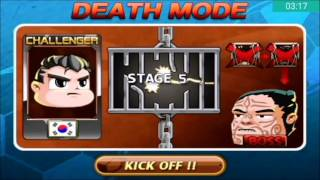 Head Soccer Challenge - Death Mode with South Korea Stages 1-10 Part 5#