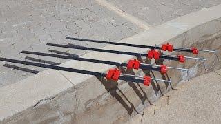 DIY Bar Clamps from 25 x 5mm Flat Bar