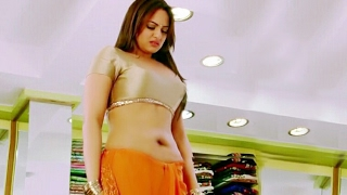 Sonakshi sinha saree below navel..