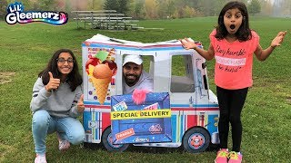 Kids buy Ice Cream from Ice Cream Truck!! Fun surprise Toy