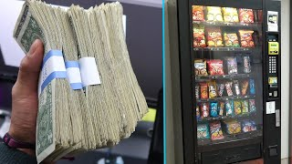 Collecting Money From My 4 Vending Machines!