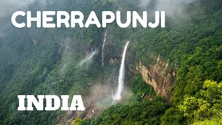SPECTACULAR WATERFALLS & LIVING ROOT BRIDGES IN CHERRAPUNJI, MEGHALAYA, INDIA