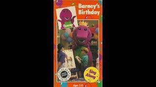 Barney's Birthday (1992 VHS Rip)