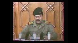 خطـاب  القائد صــدام حــسين يتحــدث عن الانتصــارات  للجيش العراقي وخسائر العـدو