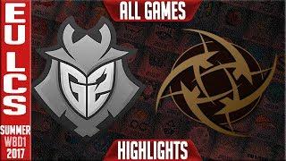 G2 Esports vs Ninjas In Pyjamas Highlights ALL GAMES Week 8 EU LCS Summer 2017 G2 vs NIP