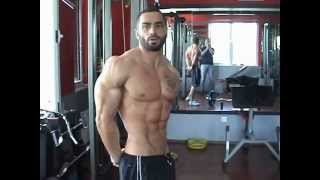 Lazar Angelov Training for Arms and  ABS !