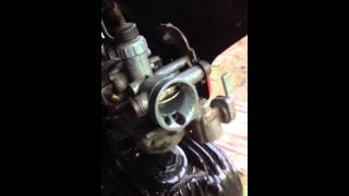 Xrm 110 carburetor failure (gas back fire/spray) probable cause?