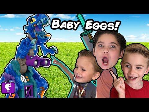 GIANT REX BONES Needs Eggs! Surprise Toy Adventure HobbyKidsTV