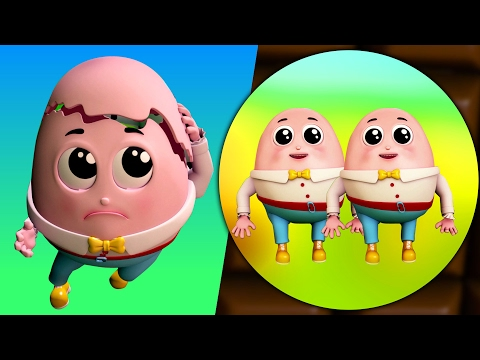 Humpty Dumpty duduk di dinding | puisi anak- anak | 3D Children Rhymes | Humpty Dumpty Sat On A Wall