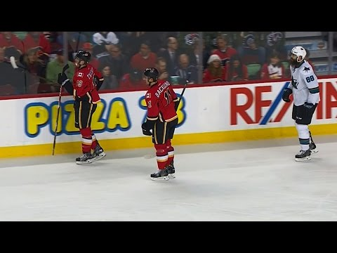 Tkachuk steals Burns stick refuses to give it back