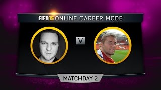 FIFA 15 ONLINE CAREER MODE: THRILLER w/FACE-CAM vs Conflict Matchday 2