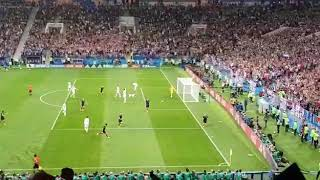 Croatia's Perisic Goal vs England from the stands...Russia 2018 semi final !!!
