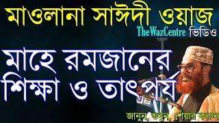 Mawlana Delwar Hossain Saidi Waz. মাহে রমজানের তাৎপর্য ও শিক্ষা। Bangla Waz