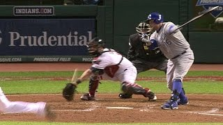 KC@CLE: Butler strikes out, but reaches on wild pitch