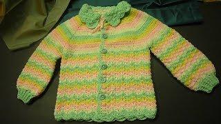 جاكيت كروشيه للبنوتات من عمر 6وحتى 8 سنوات Crochet Jacket