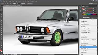 تعديل سيارات علي فوتوشوب Bmw e21