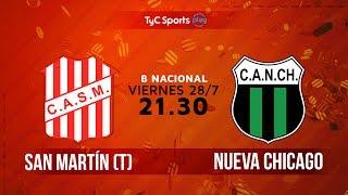 Primera B Nacional: San Martín (T) vs. Nueva Chicago  | #BNacionalenTyC