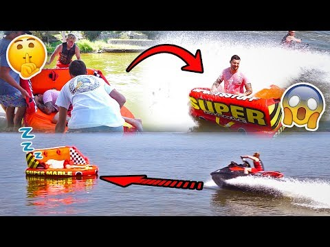 SAVAGE RAFT WAKE UP PRANK IN THE MIDDLE OF A LAKE SORRY CHAD