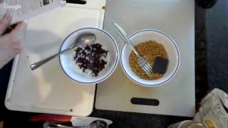 Making the iDiet Chocolate Cereal Dessert