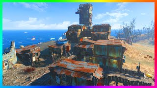 FALLOUT 4 BASE BUILDING GAMEPLAY - Giant Island Tower Structure! - Building On A GIANT ISLAND! (FO4)