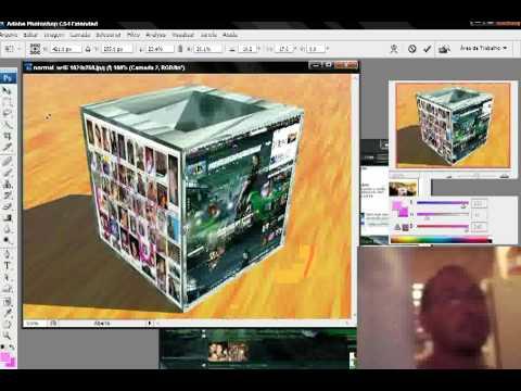 como fazer cubo de foto 3d no cs4