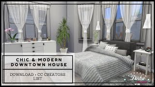 The Sims 4 | House Building | Chic and Modern Downtown House (Download + CC Creators List) Part2