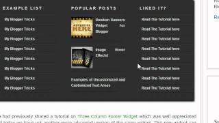 Multi Column footer Widget For Blogger - Blogger Widgets
