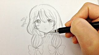 Draw a Manga Girl (real time drawing)
