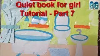 How to make quiet book for girls 07/tutorial video