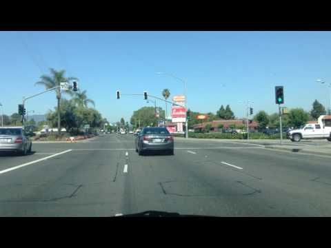 Drive to Sunnyvale Library; Silicon Valley; California