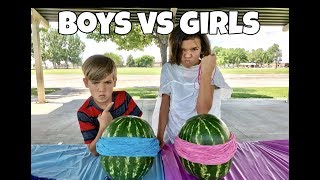 EXPLODING WATERMELONS EXPERIMENT!! | BOYS VS GIRLS!