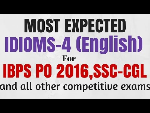 watch 45 Golden IDIOMS and PHRASES for SSC CGL and IBPS PO 2016 | in English