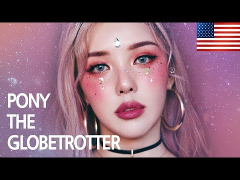 🌎 PONY THE GLOBETROTTER 🌺 Coachella Festival Make up (With subs) Palm Springs