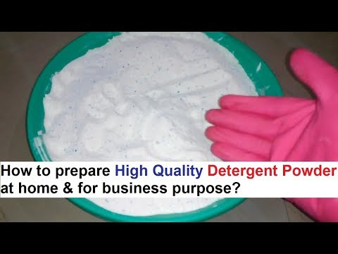 Detergent Powder Making 100 Real Formula डिटर्जेंट पाउडर बनाने का फार्मूला