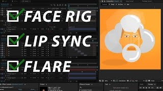 Adobe After Effects   Face Rig   Lip Sync   Layer Flare - Free Download