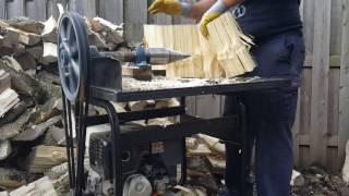 Gas screw log splitter
