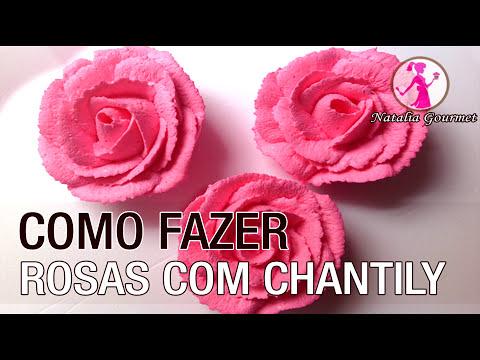 Como Fazer Rosas com Chantily