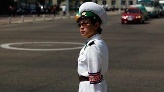 Traffic Lady in North Korea