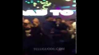 BALAKRISHNA kissing CHIRANJEEVI at 0.30s in CHIRU 60th birthday function