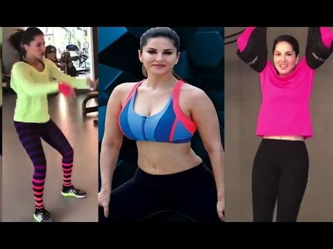 Sunny Leone Hot Body Workout & Training In Gym