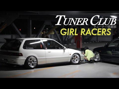 Osaka JDM Girls with Tricked Honda Civics Tuner Club Eps.4