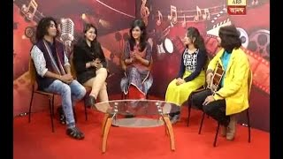 Contestants of saregamapa at the studio of ABP Ananda
