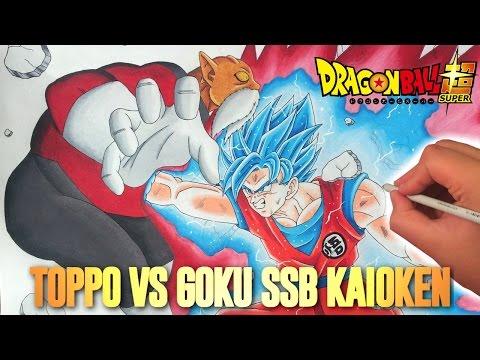 Xxx Mp4 Cómo Dibujar A Goku SSBlue Kaioken Vs Toppo Con Lápices De Colores 3gp Sex