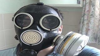 Soviet GP-7 Gas Mask test