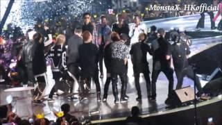 151202  #MAMA (#마마) #MONSTAX (#몬스타엑스) + #BIGBANG (#빅뱅) Reaction of  gangnam style + ENDING
