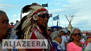 North Dakota Native Americans protests pipeline plans